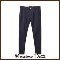 MassimoDutti♪SLIM FIT TEXTURED WEAVE JEANS-STYLE TROUSERS