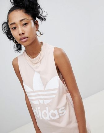 アディダス adidas Originals Big Trefoil Tank Top In Pink
