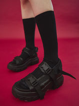 OPEN THE DOOR(オープンザドア) サンダル・ミュール [OPEN THE DOOR] platform buckle strap sandals(全2色)