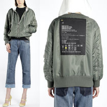 MM523 HODDED BOMBER JACKET WITH CARE TAG APPLIQUE