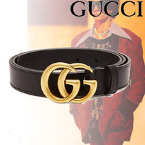 【関税込み】GUCCI ★GG leather ベルト Black