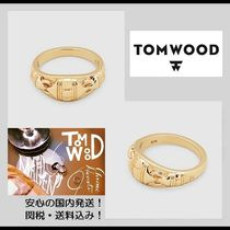 2018新作【関税&送料込】**Tom Wood**Link Band Ring Gold