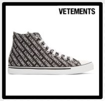 セール限定VETEMENTSヴェトモンCanvas Logo High-Top Sneakers