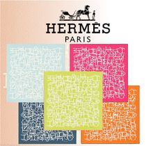 HERMES 2018-19AW Collection Equestre スカーフ コットン