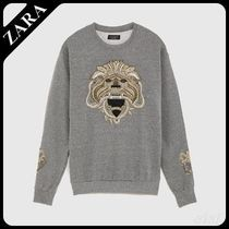 ☆ Men's ZARA☆ EMBROIDERED SWEATSHIRT WITH BEADS