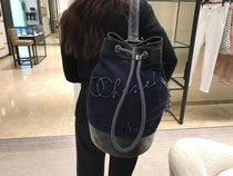 Chanel 新作♡Embroidered Wool & Calf♡Backpack