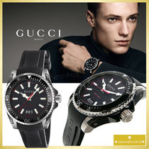 【SALE☆入手困難】GUCCI Dive Black Dial Black Rubber Watch