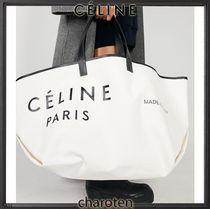 CELINE(セリーヌ) トートバッグ 【関税補償】フィービー引退で希少☆ポーチ付MADE IN TOTE(L)