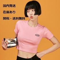 A PIECE OF CAKE(ピースオブケイク) Tシャツ・カットソー 【正規品・送料無料】A PIECE OF CAKE Oval Logo Crop Top