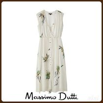 MassimoDutti♪FLORAL PRINT DRESS WITH BUTTONS