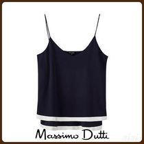MassimoDutti♪DOUBLE-LAYER TOP WITH CONTRAST HEM