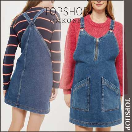 TOPSHOP マタニティワンピース 【国内発送・関税込】TOPSHOP★MATERNITY Zip Pinafore Dress