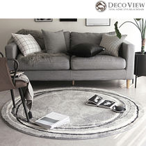 DECO VIEW(デコヴュー) ★Premium Hotel Style Gray circle Rug
