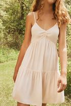 ☆Urban Outfitters☆Lace-Up Babydoll Dress(Rose)
