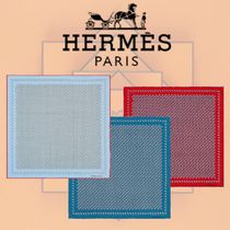 HERMES 2018-19AW Cache-Cache Aquatique ポケットチーフ シルク