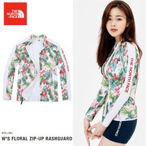 THE NORTH FACE★ W 'S FLORAL ZIP-UP RASHGUARD- NJ5JJ38J