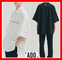 add(エーディーディー) ブラウス・シャツ 18SS【ADD】☆LETTERING AVANTGARDE SHORT SLEEVE SHIRTS☆2色☆