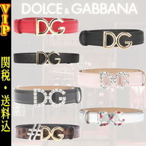 "◆◆VIP◆ Dolce & Gabbana ""DG"" Logo Leather Belt / 送税込"