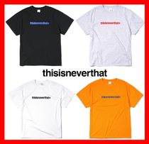 thisisneverthat(ディスイズネバーザット) Tシャツ・カットソー 2018SS☆【thisisneverthat】☆Cracked T-Logo T-shirt ☆5色☆