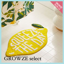 【GROWZE select】SQUEEZE THE DAY レモン バスマット