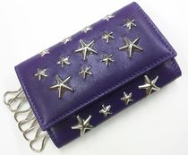 Jimmy Choo NEPTUNE CST STAR STUDS PURPLE×SILVER-sale
