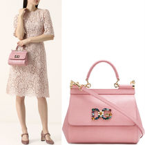18-19AW DG1660 SICILY BAG IN IGUANA EMBOSSED LEATHER SMALL