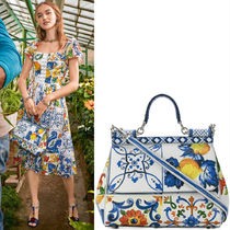 18-19AW DG1662 MAJOLICA PRINT SICILY BAG MEDIUM