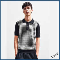 【UrbanOutfitters】先取新作! 軽量ニットポロシャツ・Black★