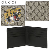 22ef49d7518821 【正規品保証】GUCCI☆18秋冬☆TIGER PRINTED GG SUPREME WALLET