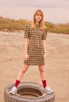 ROCKET X LUNCH(ロケットランチ) ワンピース Twiceミナ着用☆18SS/R MULTI CHECK DRESS/ROCKET X LUNCH