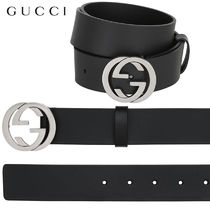 【正規品保証】GUCCI★18秋冬★37MM INTERLOCKING G BUCKLE BELT