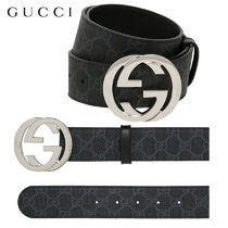 【正規品保証】GUCCI★18秋冬★40MM GG SUPREME LEATHER BELT