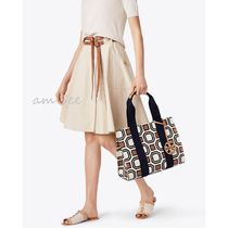 【2018SS】Tory Burch PRINTED TORY トートバッグ  New Ivory