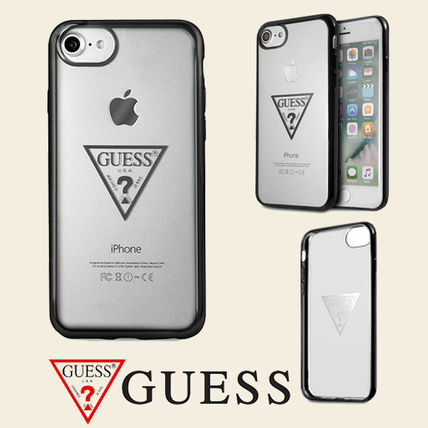 GUESS TRANSPARENT COLLECTION クリア ハードケース iPhone 7/8
