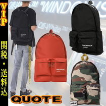 """◆◆VIP◆◆  Off-White   """"QUOTE """"  Backpack / 送税込"""