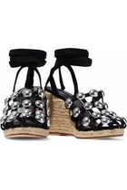 ALEXANDER WANG Taylor studded suede espadrille サンダル