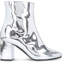 【国内発送】Balenciaga ブーツ Ville patent leather heeled