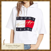 SALE★ Tommy Hilfiger トミーヒルフィガー ロゴパーカー white