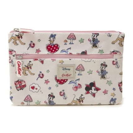 Cath Kidston メイクポーチ キャスキッドソン ポーチ 731713 Ivory Mickey  ライトピンク