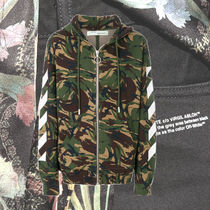 **OFFWHITE**2018AW camouflage zipped hoodie フーディ