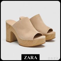 ★ZARA TRF★  BLOCK HEEL SANDALS