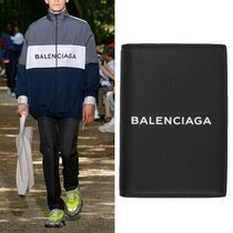 Balenciaga Black Logo Everyday Passport Holder