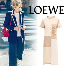 LOEWE(ロエベ)Patchwork T-Shirt Dress Beige ワンピース