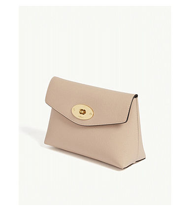 Mulberry メイクポーチ 【関税・送料ゼロ】MULBERRY レザーコスメティックポーチ