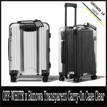 ★【OFF-WHITE】OFF-WHITE x Rimowa Transparent Carry-On Case