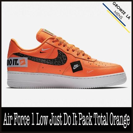 Nike スニーカー ★【NIKE】追跡 Air Force 1 Low Just Do It Pack Total Orange
