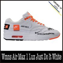 ★【NIKE】追跡発 ナイキ Wmns Air Max 1 Lux Just Do It White