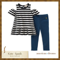 SALE!  kate spade ボーダー柄トップス&レギンスセットアップ