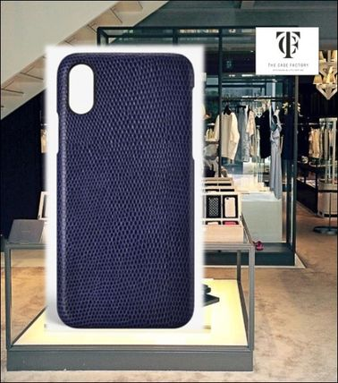 THE CASE FACTORY スマホケース・テックアクセサリー THE CASE FACTORY★IPHONE X LIZARD NAVY