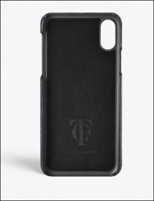 THE CASE FACTORY スマホケース・テックアクセサリー THE CASE FACTORY★IPHONE X LIZARD NAVY(3)